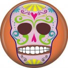 Dia de los Muertos Sugar Skull 1 inch Button Badge Pin - 6278