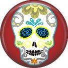 Dia de los Muertos Sugar Skull 1 inch Button Badge Pin - 6280