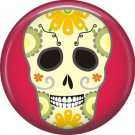 Dia de los Muertos Sugar Skull 1 inch Button Badge Pin - 6282