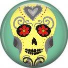 Dia de los Muertos Sugar Skull 1 inch Button Badge Pin - 6283