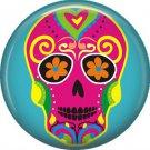 Dia de los Muertos Sugar Skull 1 inch Button Badge Pin - 6285