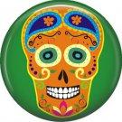Dia de los Muertos Sugar Skull 1 inch Button Badge Pin - 6286