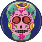 Dia de los Muertos Sugar Skull 1 inch Button Badge Pin - 6287