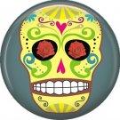 Dia de los Muertos Sugar Skull 1 inch Button Badge Pin - 6288