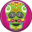 Dia de los Muertos Sugar Skull 1 inch Button Badge Pin - 6289