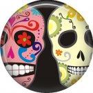 Dia de los Muertos Sugar Skull 1 inch Button Badge Pin - 6290