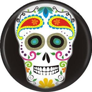 Dia de los Muertos Sugar Skull 1 inch Button Badge Pin - 6292