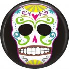 Dia de los Muertos Sugar Skull 1 inch Button Badge Pin - 6293
