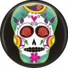 Dia de los Muertos Sugar Skull 1 inch Button Badge Pin - 6295