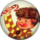 Mid Century Retro Christmas Image on a 1 inch Button Badge Pin - 3083