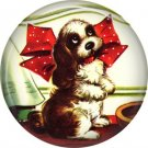 Mid Century Retro Christmas Image on a 1 inch Button Badge Pin - 3089