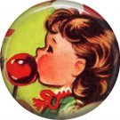 Mid Century Retro Christmas Image on a 1 inch Button Badge Pin - 3091