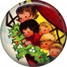 Mid Century Retro Christmas Image on a 1 inch Button Badge Pin - 3098