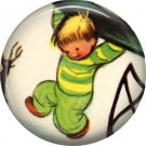 Mid Century Retro Christmas Image on a 1 inch Button Badge Pin - 3099