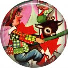 Mid Century Retro Christmas Image on a 1 inch Button Badge Pin - 3110