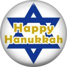 Happy Hanukkah, 1 Inch Pinback Button Badge Pin - 3066