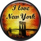 I Love New York Vintage Image on a 1 inch Button Badge Pin - 6300