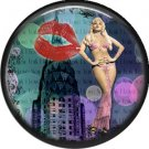 I Love New York Vintage Image on a 1 inch Button Badge Pin - 6313