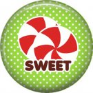 Sweet Peppermints, 1 Inch Be Merry Pinback Button Badge Pin - 3041