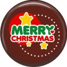 Merry Christmas Stars, 1 Inch Be Merry Pinback Button Badge Pin - 3044
