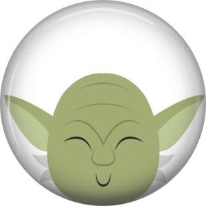 Star Wars Yoda Set of 3 1 Inch Scrapbook Flair Buttons - Set 4