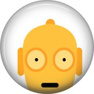 Star Wars C 3PO 3 1 Inch Pinback Button Badge Pins - Set 1