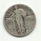1929 #4  90% Silver Standing Liberty Quarter.