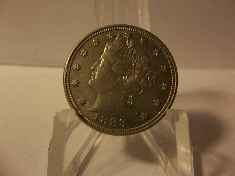 1883 No Cents #2 Liberty Head V Nicke