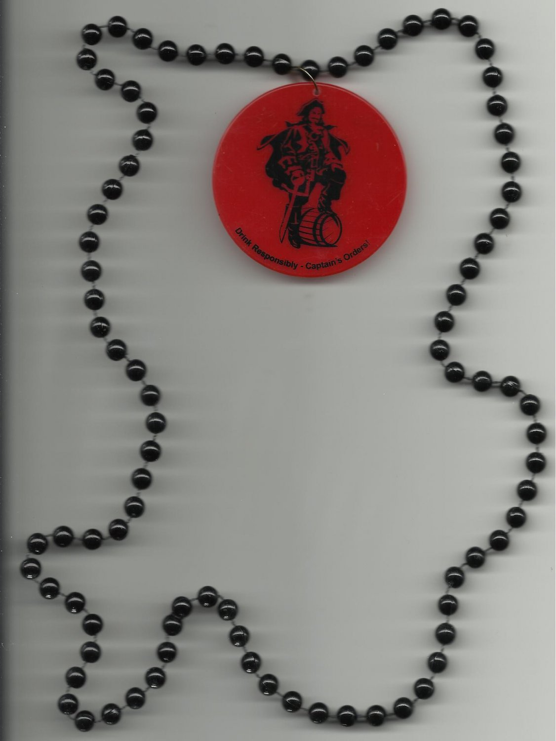 Captain Morgan Beaded Medallion Necklace