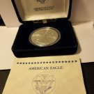 2014 Gem BU American Silver Eagle with COA