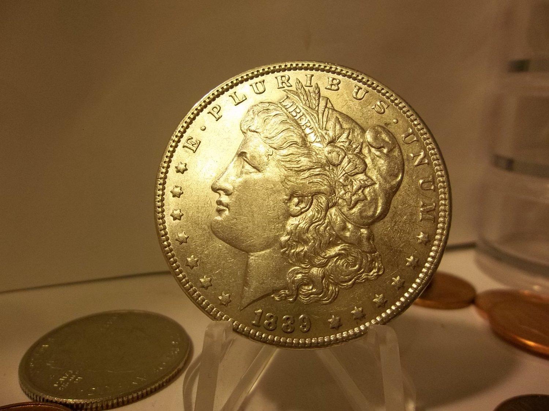 1889 #8 90% Silver VAM 7 Morgan Dollar.