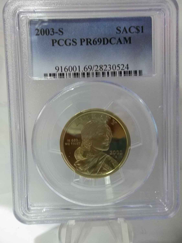 2003-S $1 Sacagawea Dollar PCGS PR69DCAM