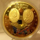 Proof 2013 Gold Civil War Coin of Our Heroes and our flags.