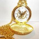 "Commemorative 24 Kt. ""Morgan Eagle Style"" Pocket Watch & Chain"