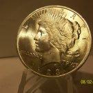 1923 #12 BU MS-63 Peace 90% Silver Dollar.