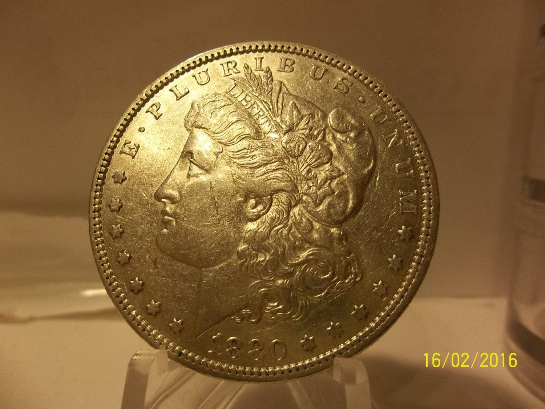1880 #4  90% Silver Morgan Dollar.