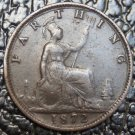 1872 #1 GREAT BRITIAN - FARTHING - Victoria