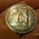 1858-1958 TOTEM POLE SILVER DOLLAR CANADA British Columbia
