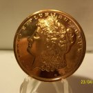2012 - 1oz Copper Morgan Design Coin.