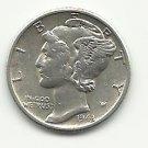 1943 #1 Silver Mercury Dime.