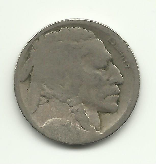 1916-D #6 Buffalo Nickel.