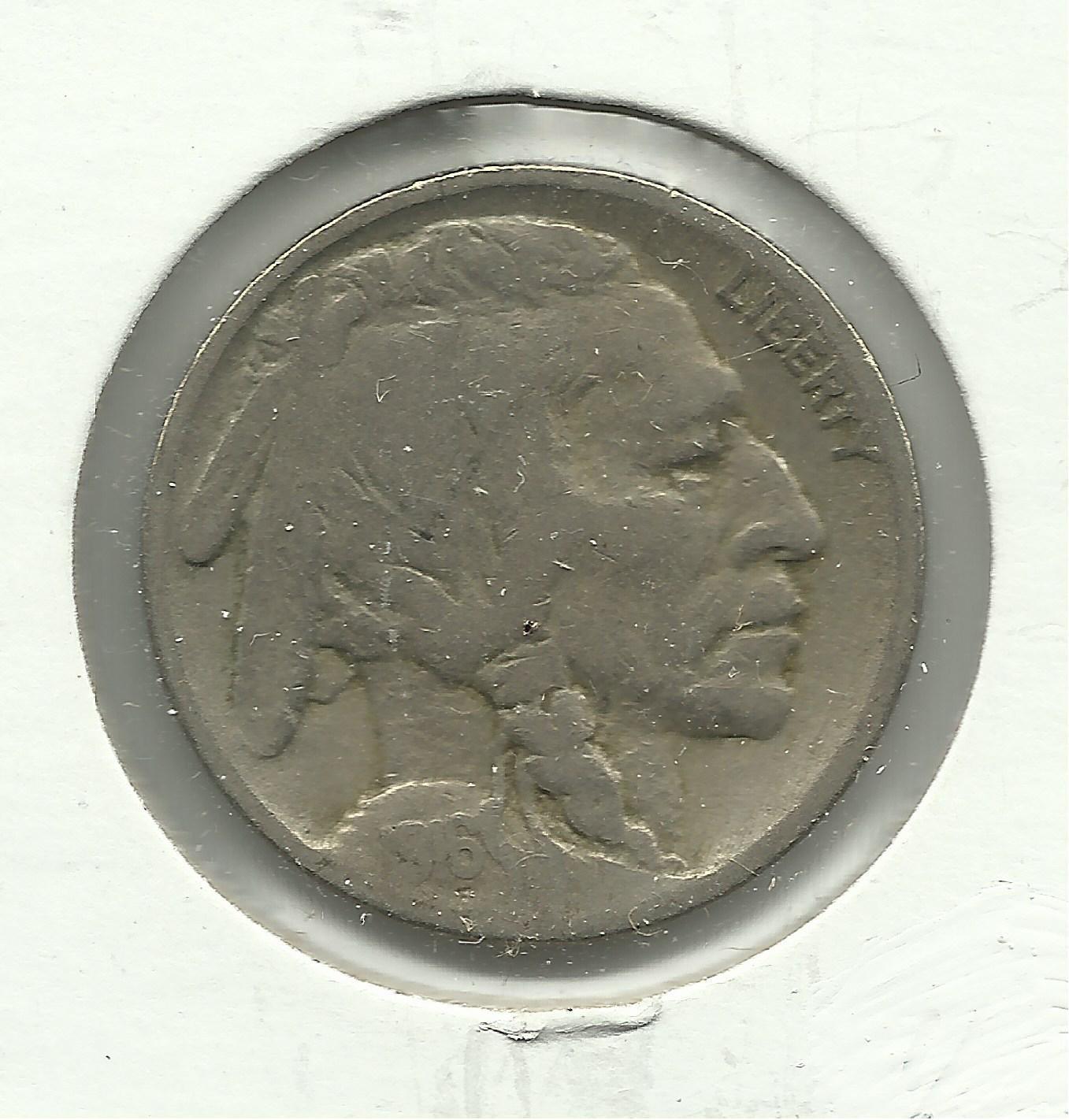 1916 #8 Buffalo Nickel.