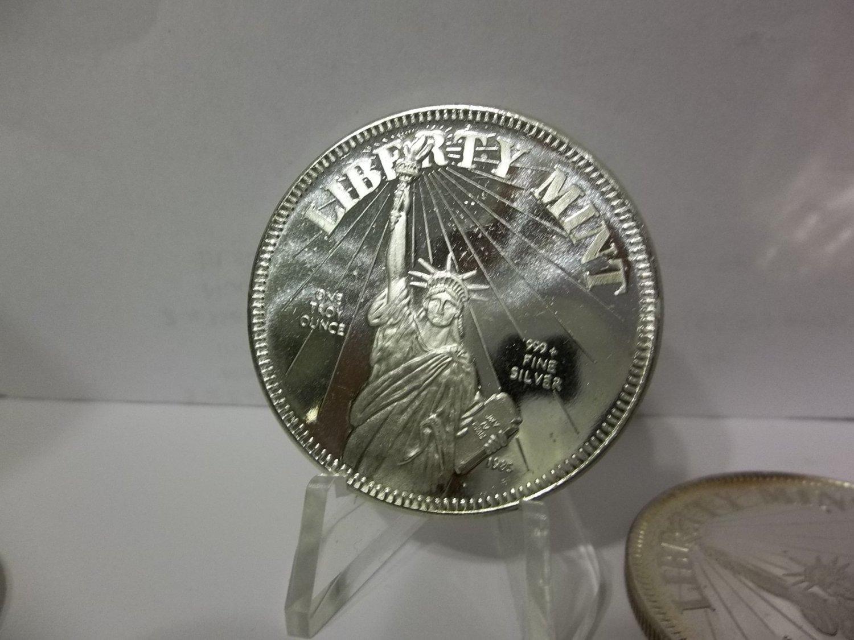 1985 Liberty Mint Silver Coins .999 Fine Silver 1 troy ounce Bullion.