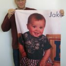 30x40 PERSONALIZED Color PHOTO Throw Blanket  Made in USA