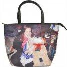 100% Leather Designer CUSTOM PHOTO Bucket style Handbag Purse
