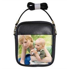 Custom Girls Leather Shoulder Sling Bag Handbag purse