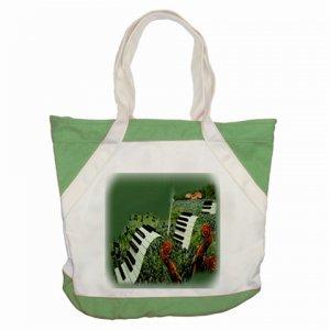 Custom Accent Canvas Tote Bag Green Accents Handbag purse