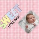 PINK Baby Girl Blanket add YOUR Baby photo Small 30 x 40 Fleece Photo Throw Blanket Made in USA