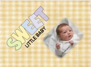 YELLOW Baby Blanket add YOUR Baby photo Small 30 x 40 Fleece Photo Throw Blanket Made in USA