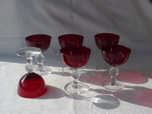 Morgantown Golf Ball Spanish Red Cocktail glass